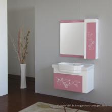 Vanité de salle de bain en PVC à chaud avec certificat CE
