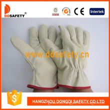 Pig Grain Leather Driver Gloves. Without Lining-Dld412