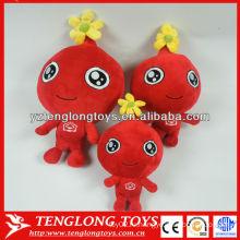 Красный мини-плюшевый плюшевый милый кукла улыбающийся плюшевый кукла игрушка