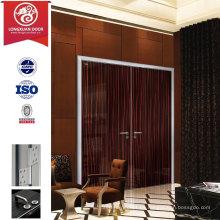 Puertas ecológicas de doble hoja elegantes y elegantes de lujo, opción verde para ambientes agradables