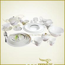 25 PCS Western Tableware Lines mit goldenen Streifen verziert