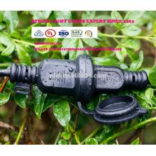 SLT-152 54 FT schwarzes Kabel, 24 Sockel im Freien kommerzielles Schnur-Licht, Birnen S14