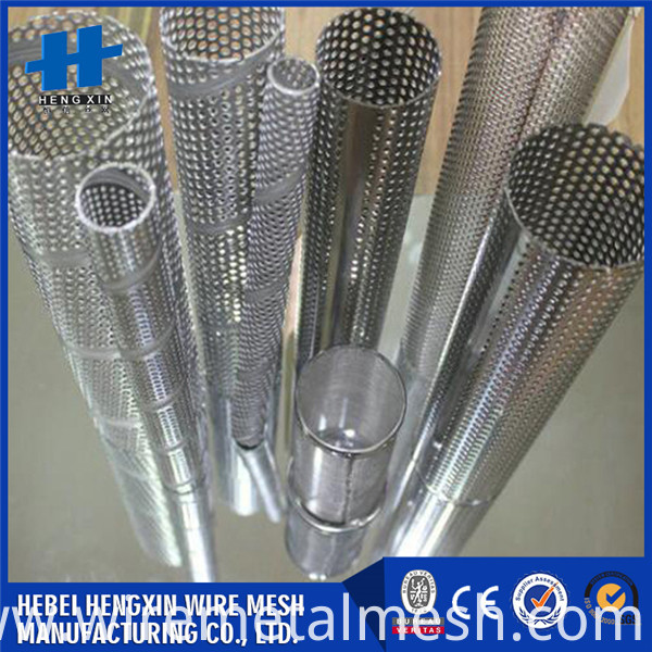 Heat resistance perforated filter cartridge (6)