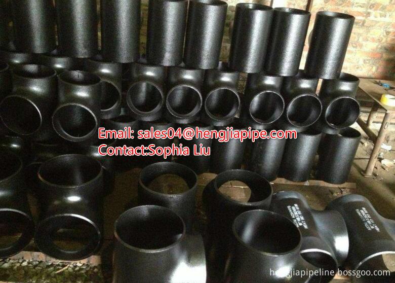 seamless pipe tee black steel