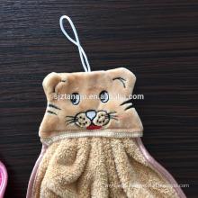 Winningstar wholesale cute animal shape coral fleece microfiber hand towel