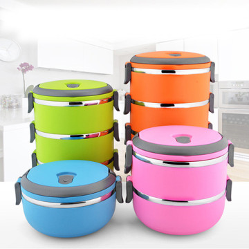 ChaoZhou stainless steel Colorful lunch boxes