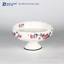 Haagen-Dazs gelado placa óssea china venda quente cerâmica prato de sobremesa logotipo customed