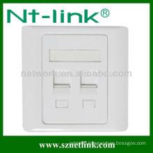 Dual face plate RJ45 keystone jack network information outlet