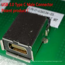 USB 3.0 Tipo C Conector Hembra Producto de Patente