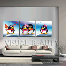Большой размер Пингвин 3D Картина животных