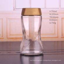 200g 750ml glass coffee jar storage glass jar with plastic cap