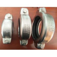 Aço inoxidável Ss304 e 316 acoplamentos de encaixe de tubulação de alta pressão Grooved Victaulic
