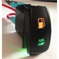 Interruptor de balancín marino a prueba de agua Interruptor de luz LED de doble color