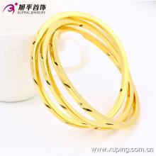 Moda simples 24k ouro cor imitação jóias pulseira 51435