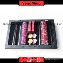 Negro plástico chip chip flotador (YM-CT06)