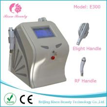 2 en 1 depilación láser y RF rejuvenecimiento de la piel Elight + RF máquina con 2 Hanldes