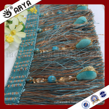 new design beaded and brush Fringe for Curtain decoration