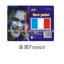 флаг лицо краской(Франция),масло на основе лицо краской