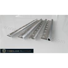 Silver Alumínio Radius Shape Floor Trim