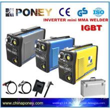 CE aprovado pequeno inversor IGBT DC eletrodo soldador portátil máquina de solda