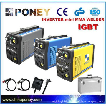 CE aprobado pequeño inversor IGBT DC soldador electrodo soldador portátil