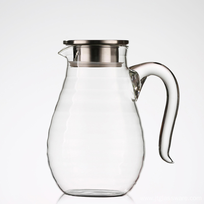 Cold Water Jug for Juice Beverage Glass Pitcher