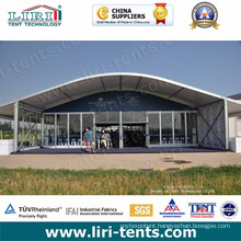 Arcum Frame Tent with Glass Wall and Glass Door