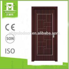Diseño de puertas compuestas de hogar para inodoro puerta de madera de melamina.