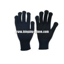 Строку вязать ПВХ точками перчатки хлопка Термолайт (2315)