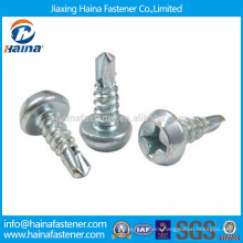 China manufacturer zinc plated big pan framing head self drilling screw