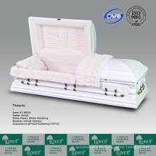 LUXES gran tamaño americano madera cofrecillos de ataúdes para cremación funeraria