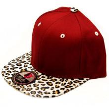 100% Leder Krempe Red Snapback Caps