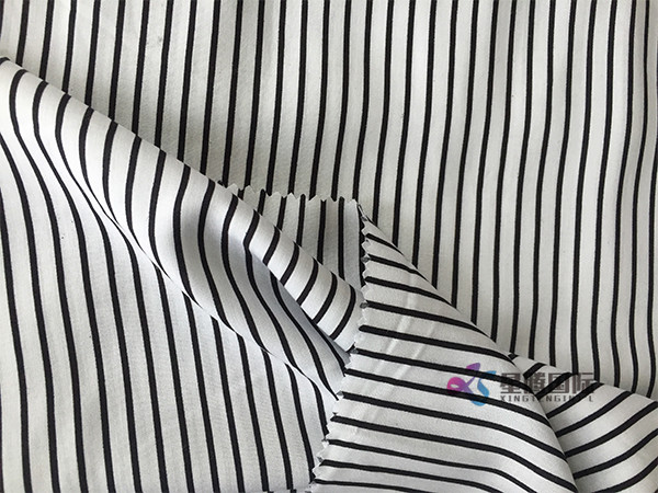 Plain Stripe 100% Rayon Print Fabric