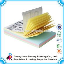 Impresión offset tamaño mini nota adhesiva