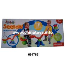 Crianças, tocando, jogo, seesaw, brinquedo (091765)