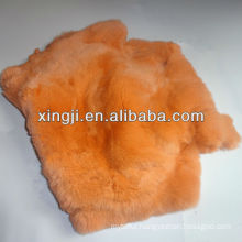 rex rabbit fur skin dyed orange color rex rabbit for fur coat