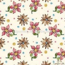 Tissu de literie imprimé / tissu d'impression de conception de fleurs pour le textile à la maison / tissu d'impression extra-large de largeur pour la literie