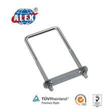 Perno personalizado del U del OEM de la curvatura del personalizado del sujetador con el Zinc plateado