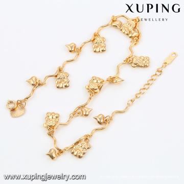 Bracelet de cheville plaqué or 74480-18k conçoit des bijoux chaîne de cheville, bijoux modèles en or 18k cheville en or