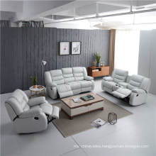 Factory Supply Leather Recliner Sofa Set, Genuine Leather Sofa Set