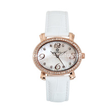 Crystal watch stainless steel ladies watch
