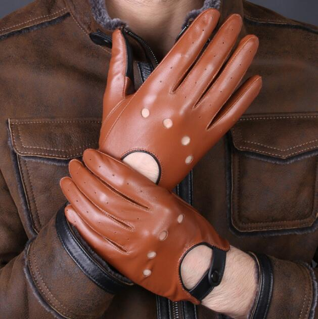 breathable thin leather gloves