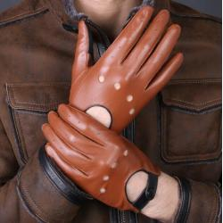 Soft thin breathable full finger customize leather glove