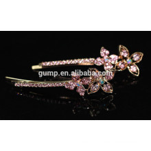 Nouvelle conception de fleurs brillant Crystal Barrette strass Bobby broche