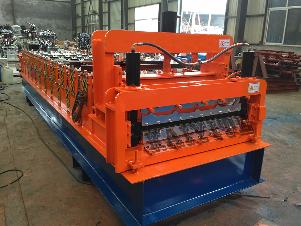 galzed double layer roll forming machine