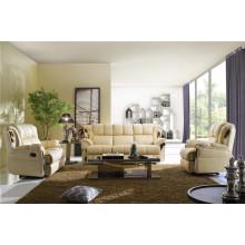 Sofá de salón con sofá moderno de cuero genuino (406)