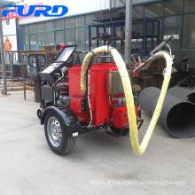 Machine de cachetage d'asphalte de fissure de route de remorque avec le réservoir matériel 100L