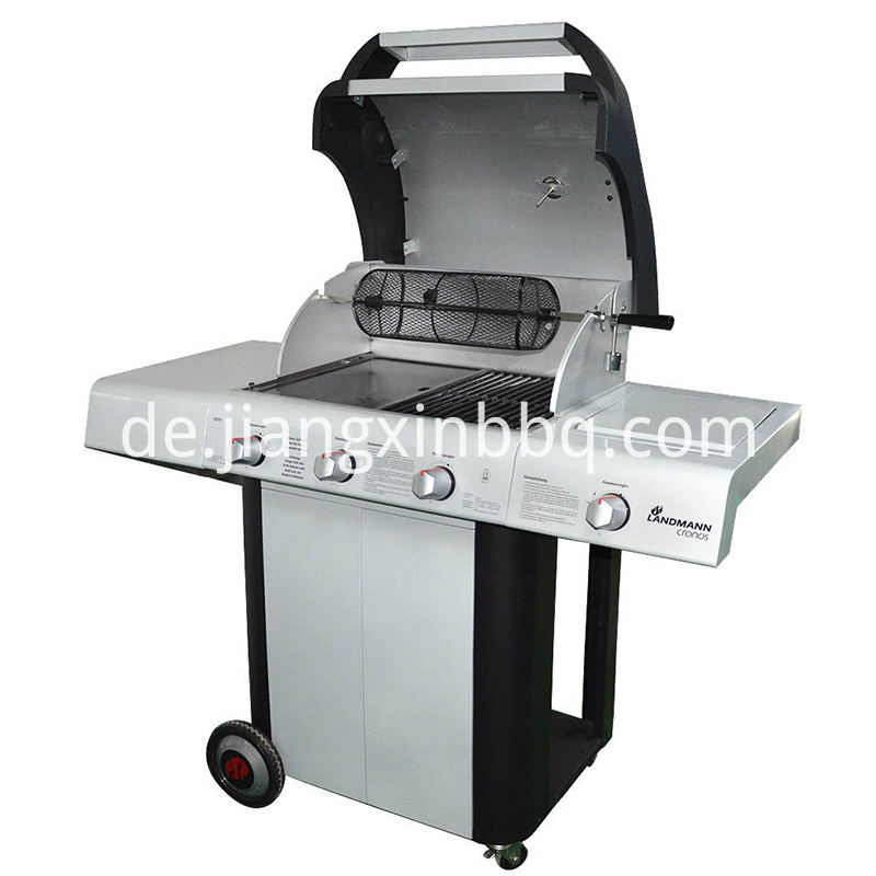 Universal Rotisserie Grill French Fries Basket On Gas Grill