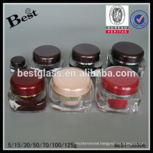 15/30/50/100/125g cube colored acrylic container with lid,cream jar for sale,personal care face care cosmetic packaging jar