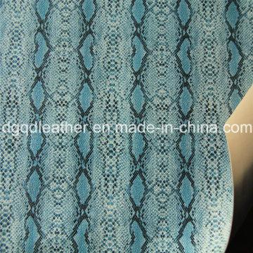 Superfície de cobra de couro de dupla face PU sapatos de couro (QDL-SP041)